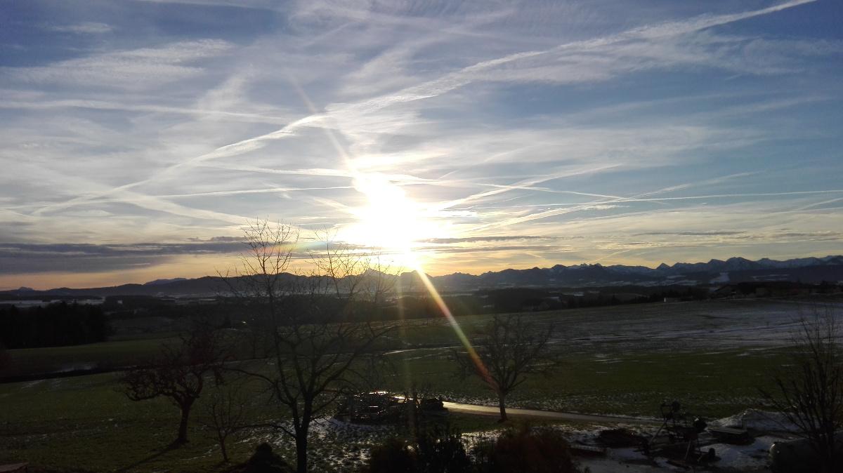 unsere Aussicht bei Sonnenschein